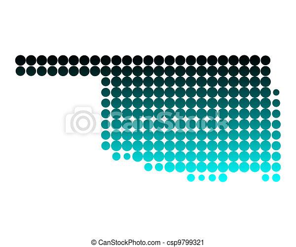 Map of Oklahoma - csp9799321