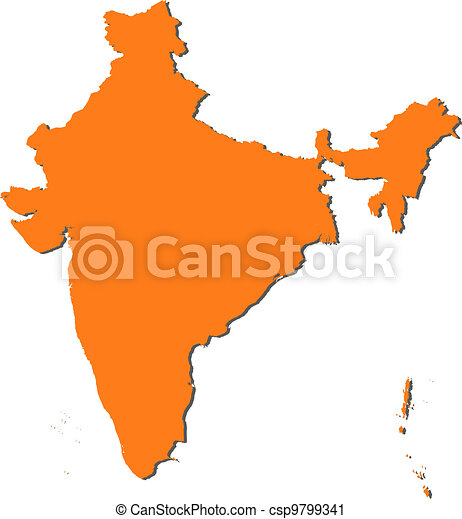 Map of India - csp9799341