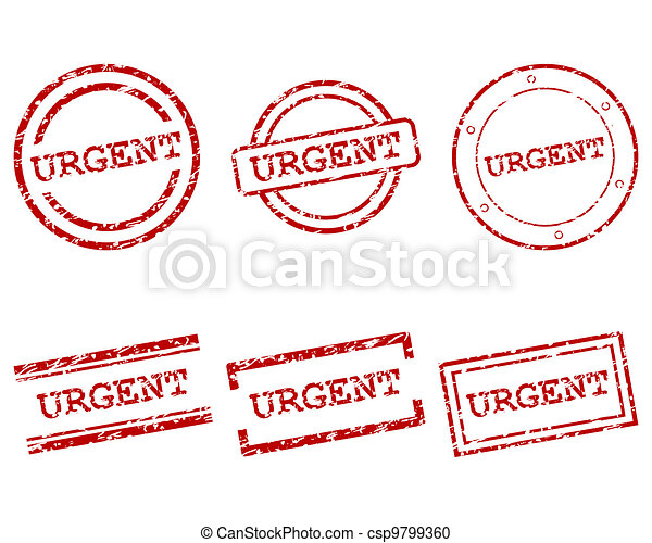 Urgent stamps - csp9799360