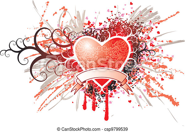 Heart Insignia - csp9799539