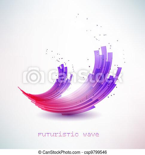 futuristic wave sign - csp9799546
