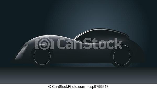 futuristic concept car - csp9799547