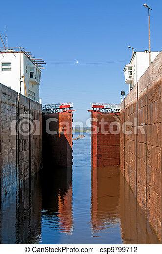 Sluice of the channel Volga-Don Lenin's name - csp9799712