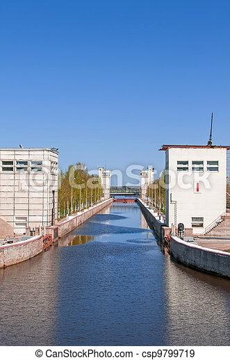 Sluice of the channel Volga-Don Lenin's name - csp9799719