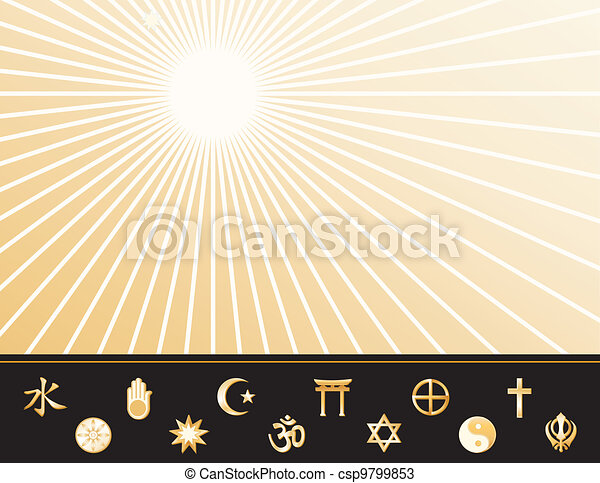 World Religions Poster  - csp9799853