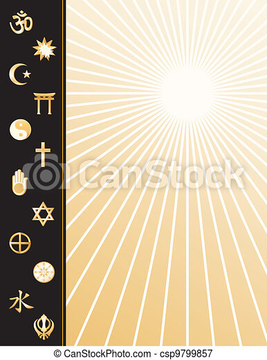 World Religions Poster  - csp9799857