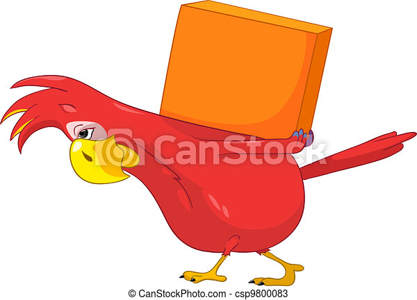Funny Parrot. Delivery. - csp9800083