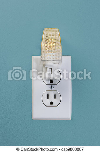 Wall Outlet Light for Night Time - csp9800807