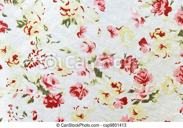Pattern of flower wallpaper textile  - csp9801413