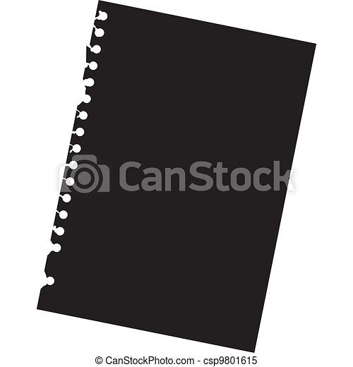 Close up of blank notepad paper - illustration - csp9801615
