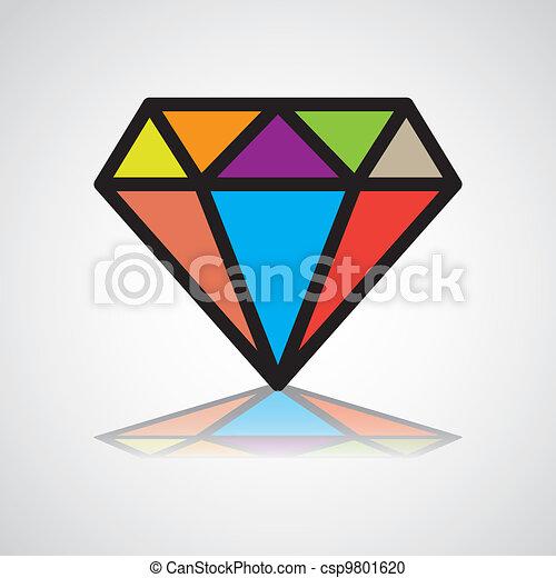 diamond symbol, design icon, concept identity - illustration - csp9801620