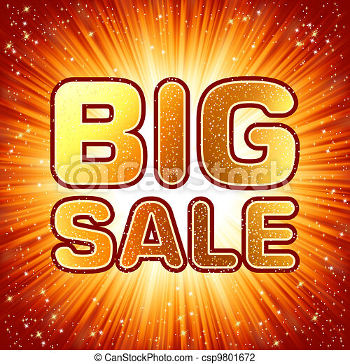 Big sale message. EPS 8 - csp9801672