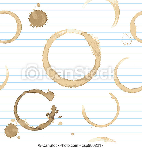 Seamless background with stains of coffee  - csp9802217