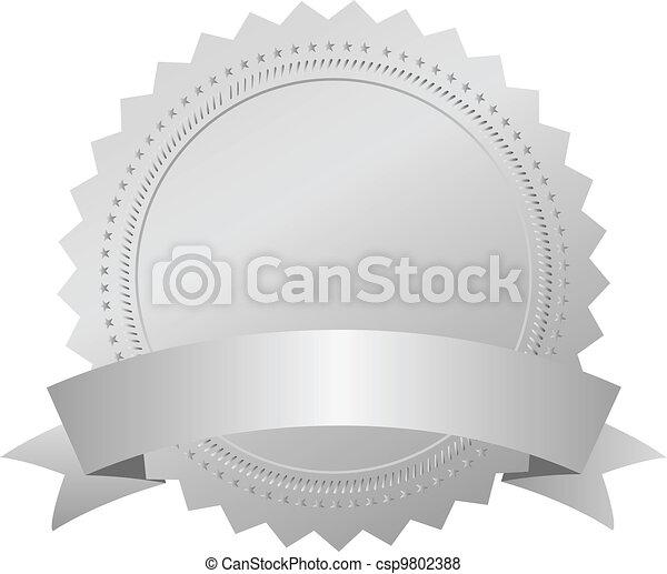 Vector silver award emblem - csp9802388
