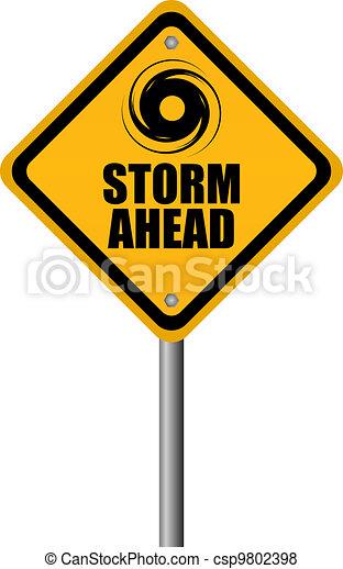 Storm warning sign - csp9802398