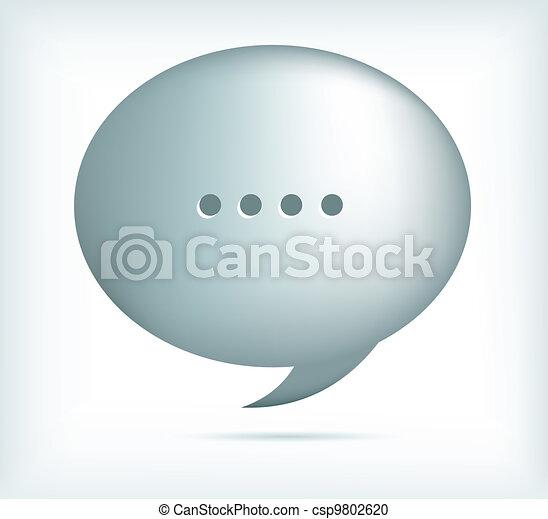 silver speech bubbles - csp9802620