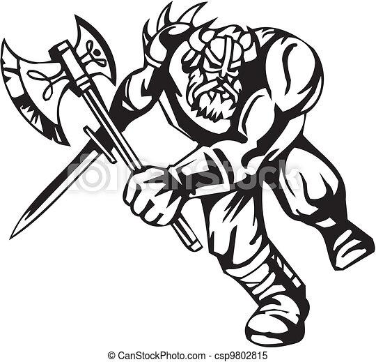 Vecteur clipart de nordique viking vecteur - Dessin de viking ...