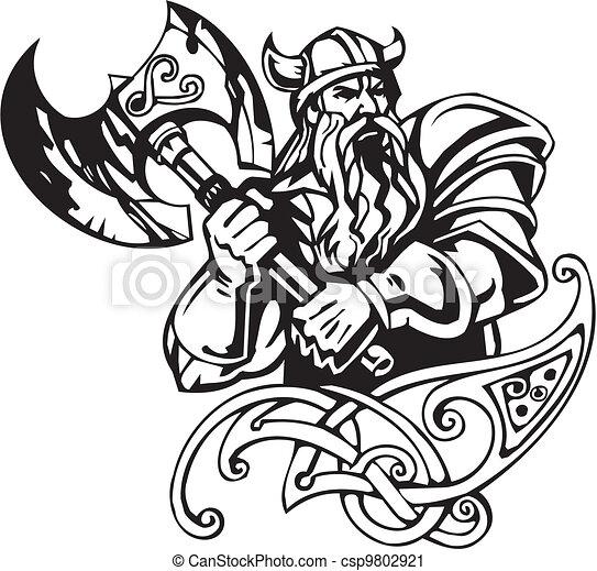 Nordic Dragon Tattoo