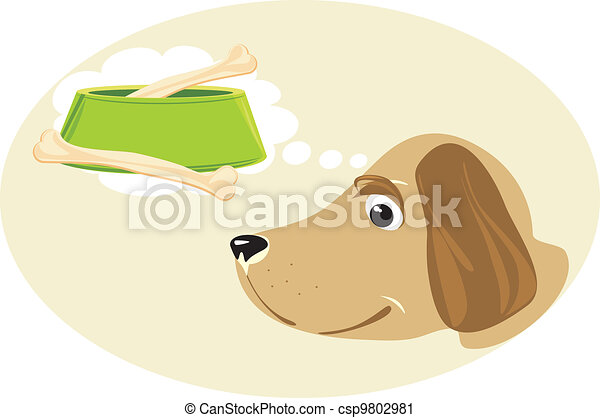 Doggy dreams about a meal - csp9802981