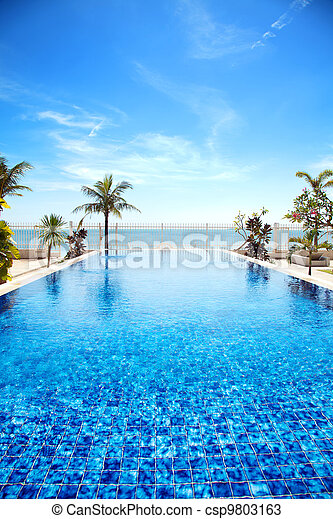 Tropical swimming pool - csp9803163