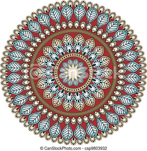 Paisley circle - csp9803932