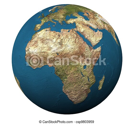 3d globe in isolation - csp9803959