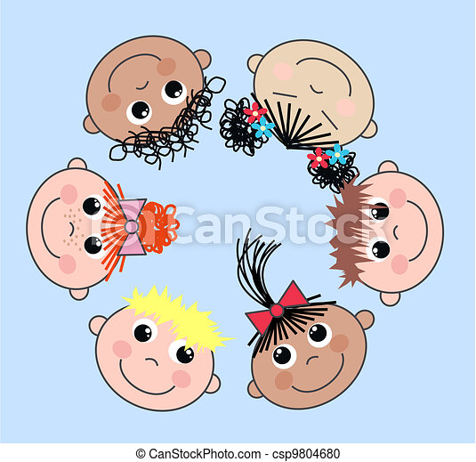 mixed ethnic children - csp9804680