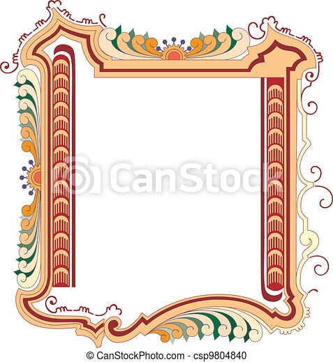 Vector classical style frame - csp9804840