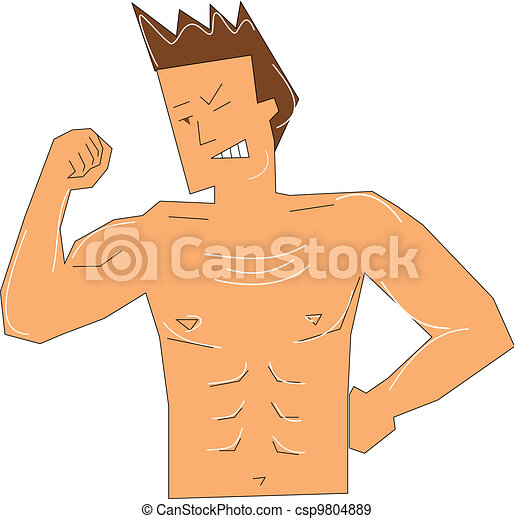 Muscular guy - csp9804889