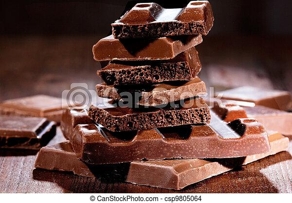 Chocolate pieces - csp9805064
