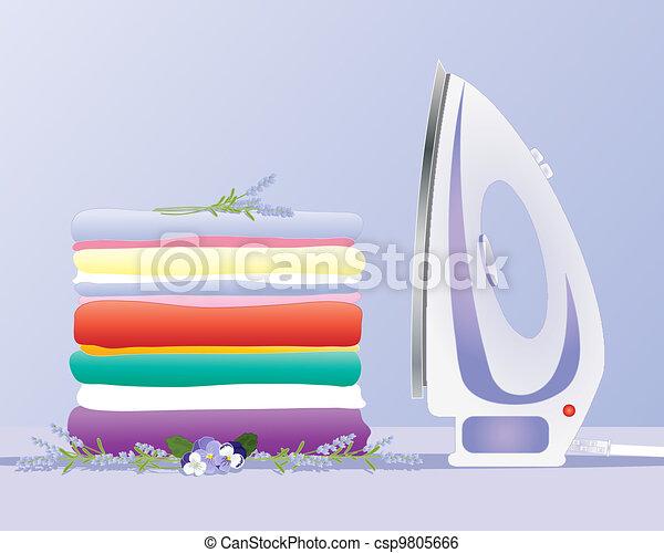 ironing clothes - csp9805666