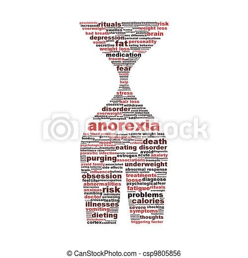 Anorexia disorder symbol conceptual design - csp9805856