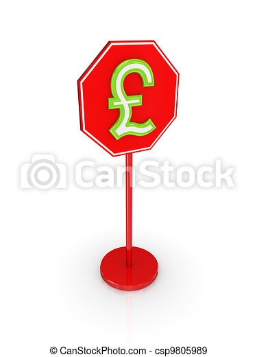 Stylized pound sterling sign. - csp9805989