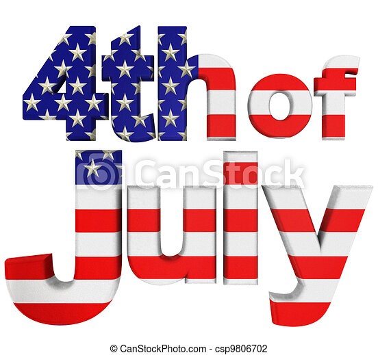 4th. Of July Front View  - csp9806702
