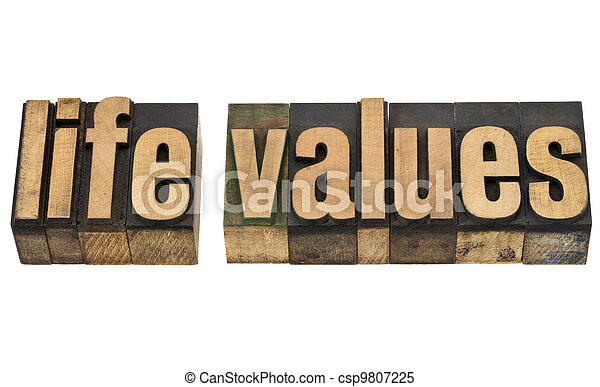 life values in wood type - csp9807225