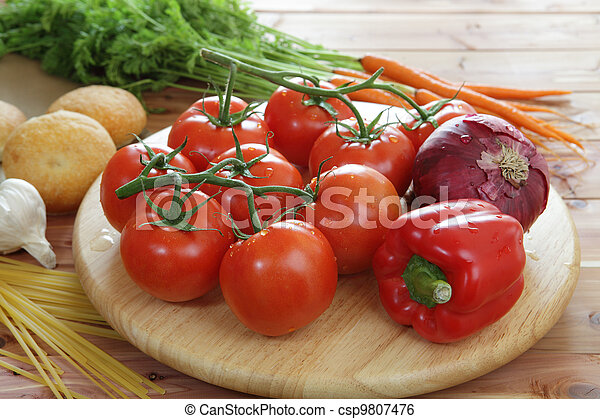 Fresh organic vegetables - csp9807476