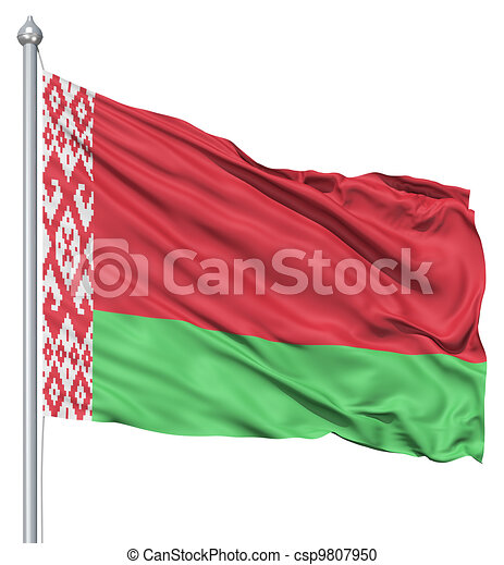 Waving flag of Belarus - csp9807950
