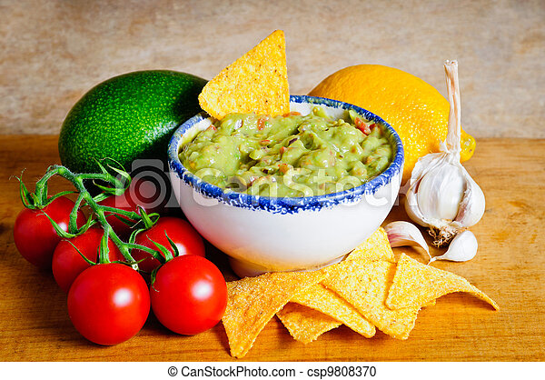 Guacamole ingredients - csp9808370