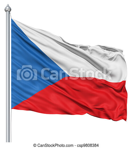 Waving flag of Czech Republic - csp9808384