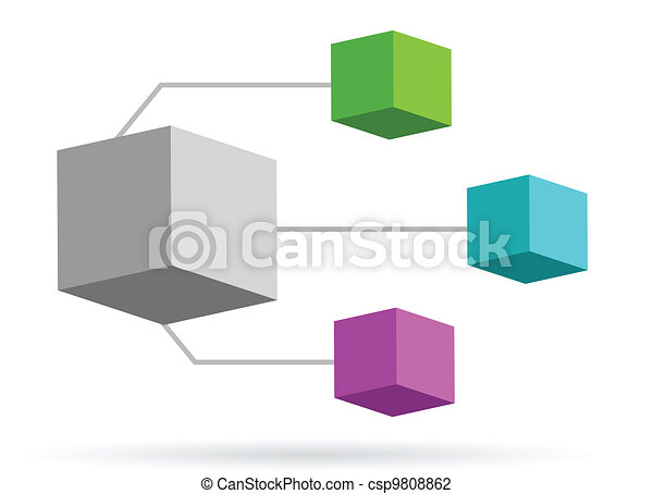 Glass Mirror and Color Organization - csp9808862