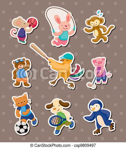 animal sport stickers - csp9809497