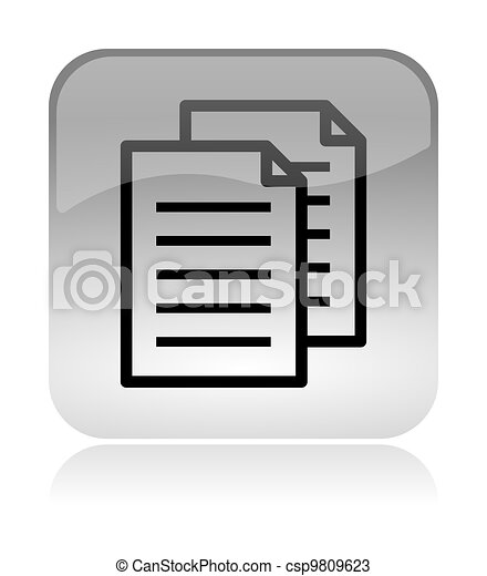 Copy documents web interface icon - csp9809623