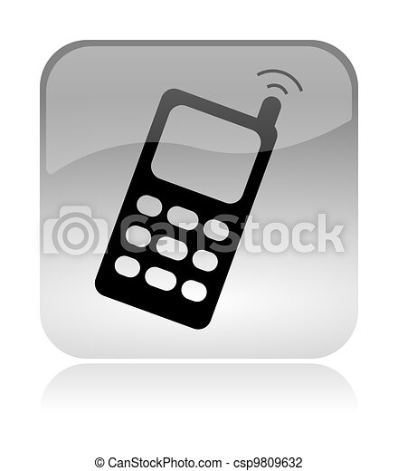 cellular mobile phone web interface icon - csp9809632