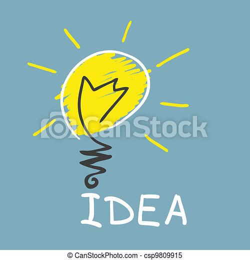 Innovative lamp.  idea concept - csp9809915