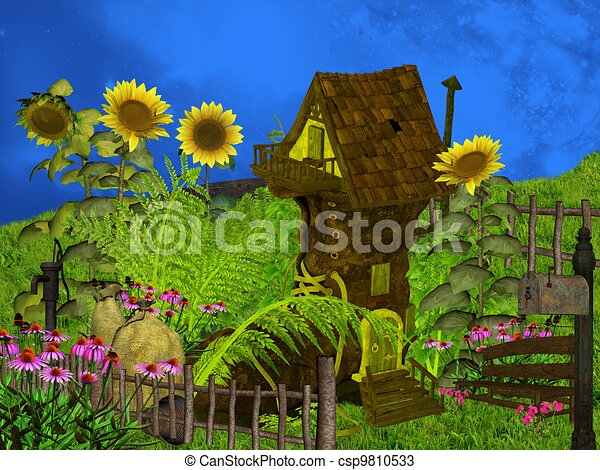 Fantasy Houses Drawing Fantasy House Csp9810533