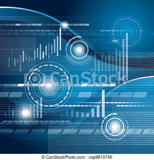 Conceptual Business Background - csp9810740