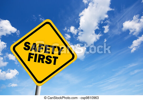Safety first illustrated sign - csp9810963