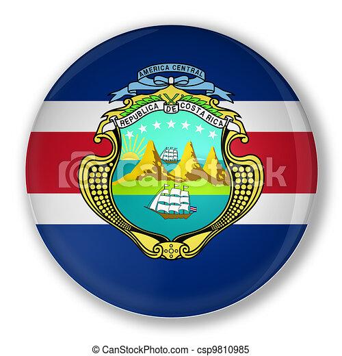 costa, bandeira, emblema,  rica - csp9810985