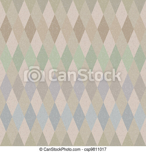 Seamless retro harlequin background - csp9811017