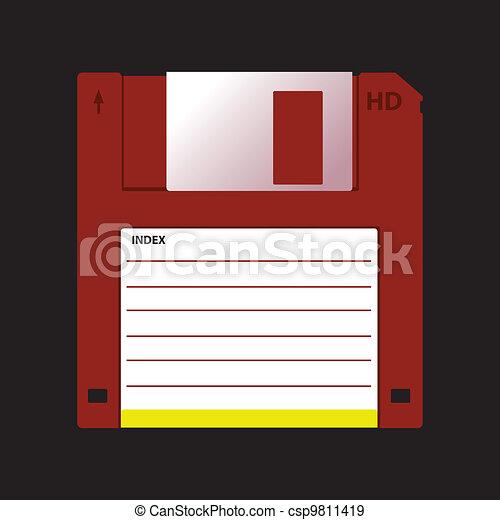 HD diskette old data media illustration - csp9811419
